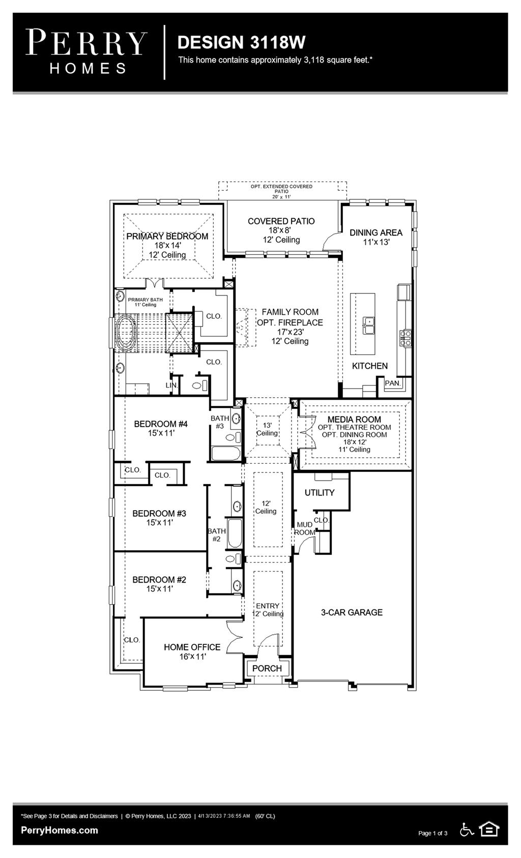 Floor Plan for 3118W