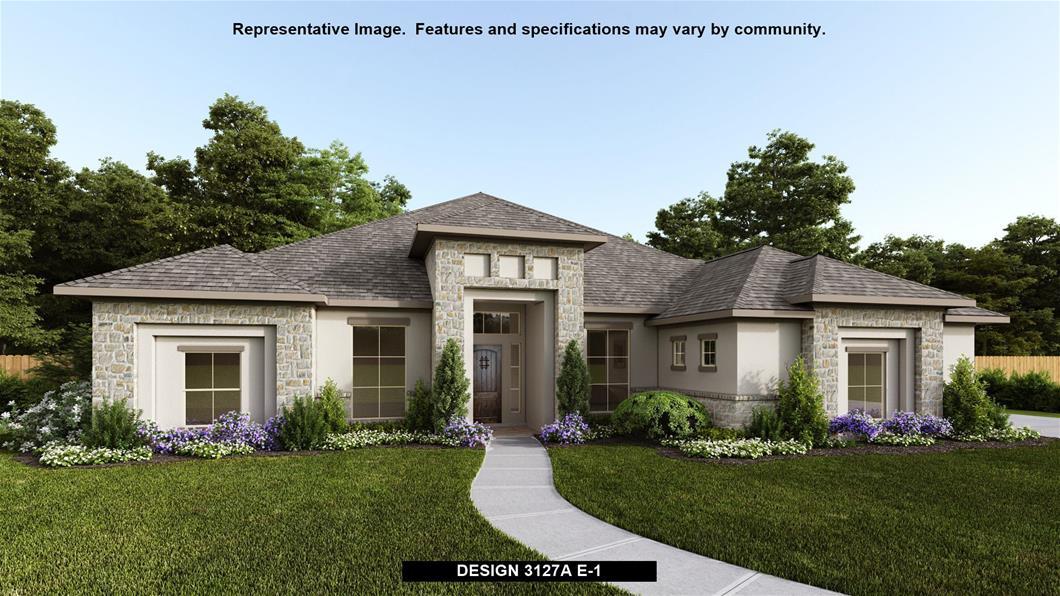 New Home Design, 3,127 sq. ft., 4 bed / 3.0 bath, 3-car garage