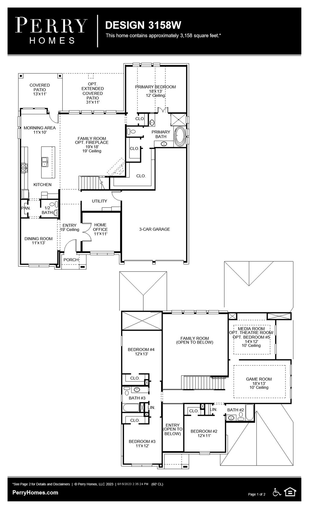 Floor Plan for 3158W
