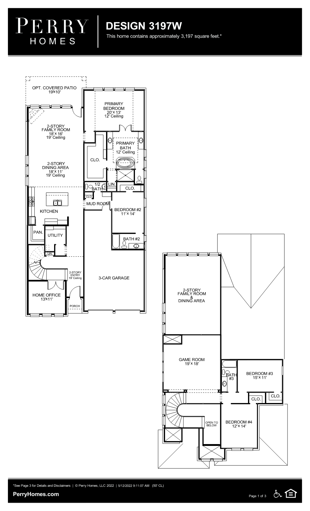 Floor Plan for 3197W