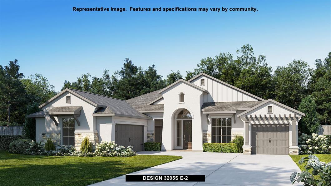 New Home Design, 3,205 sq. ft., 4 bed / 3.0 bath, 3-car garage