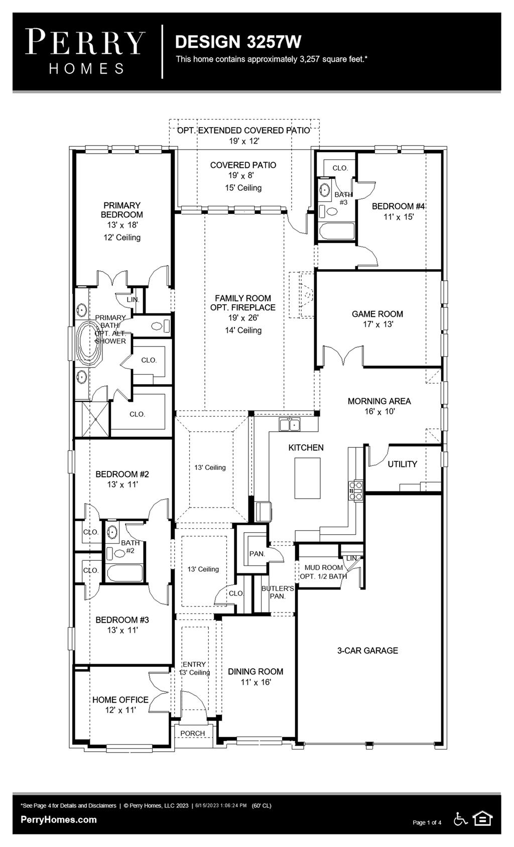 Floor Plan for 3257W