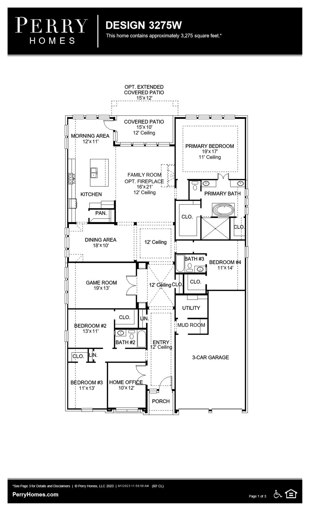 Floor Plan for 3275W
