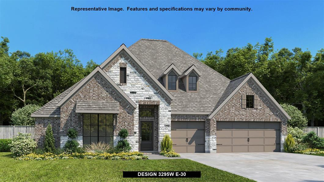 New Home Design, 3,295 sq. ft., 4 bed / 3.0 bath, 3-car garage