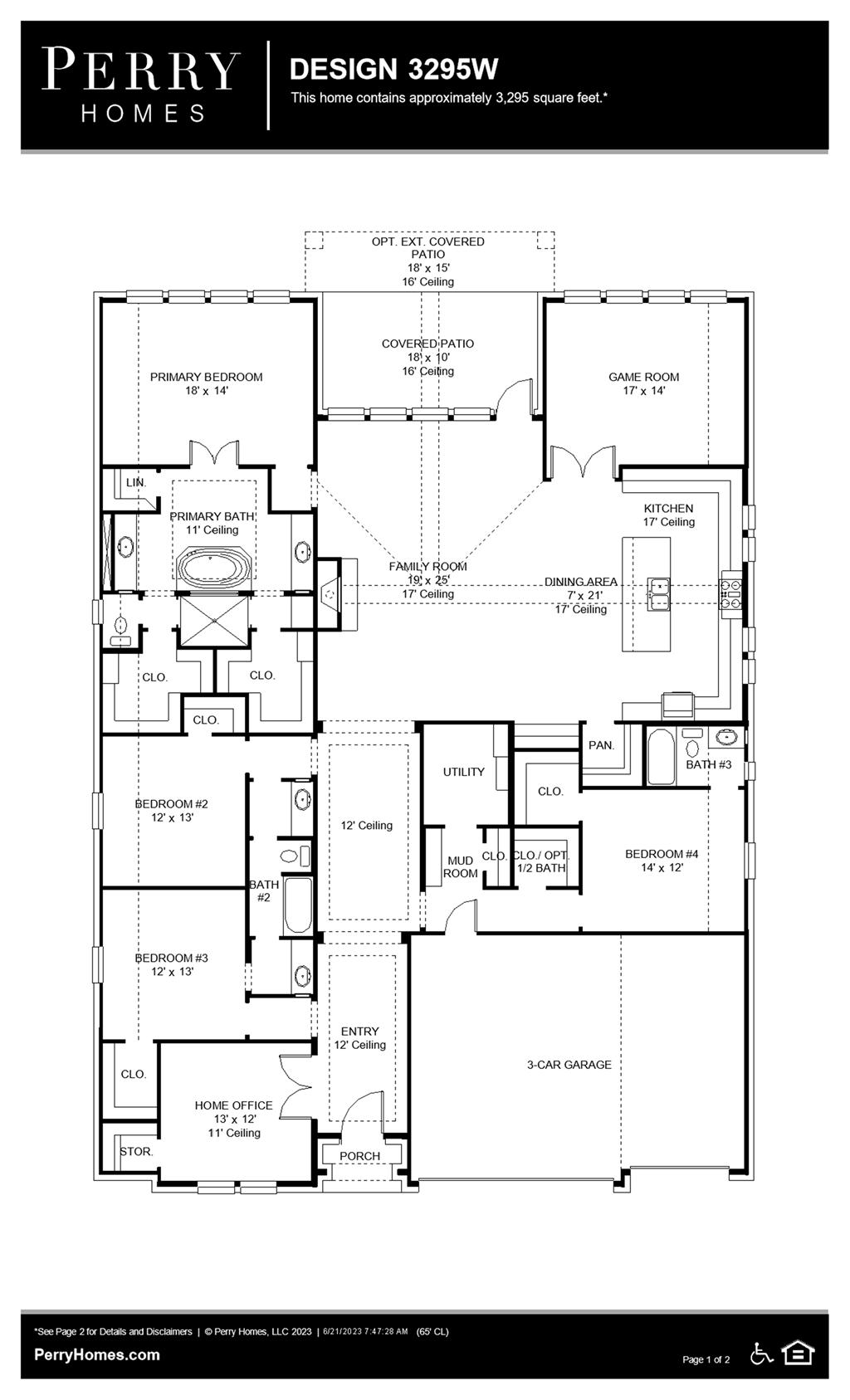 Floor Plan for 3295W