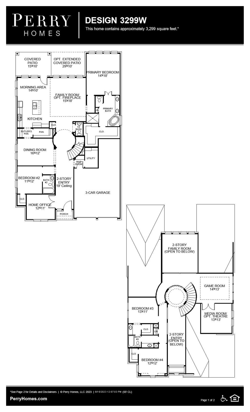 Floor Plan for 3299W