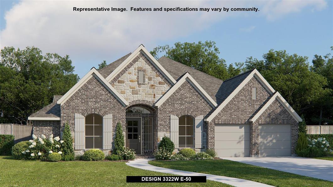 New Home Design, 3,322 sq. ft., 4 bed / 3.5 bath, 3-car garage