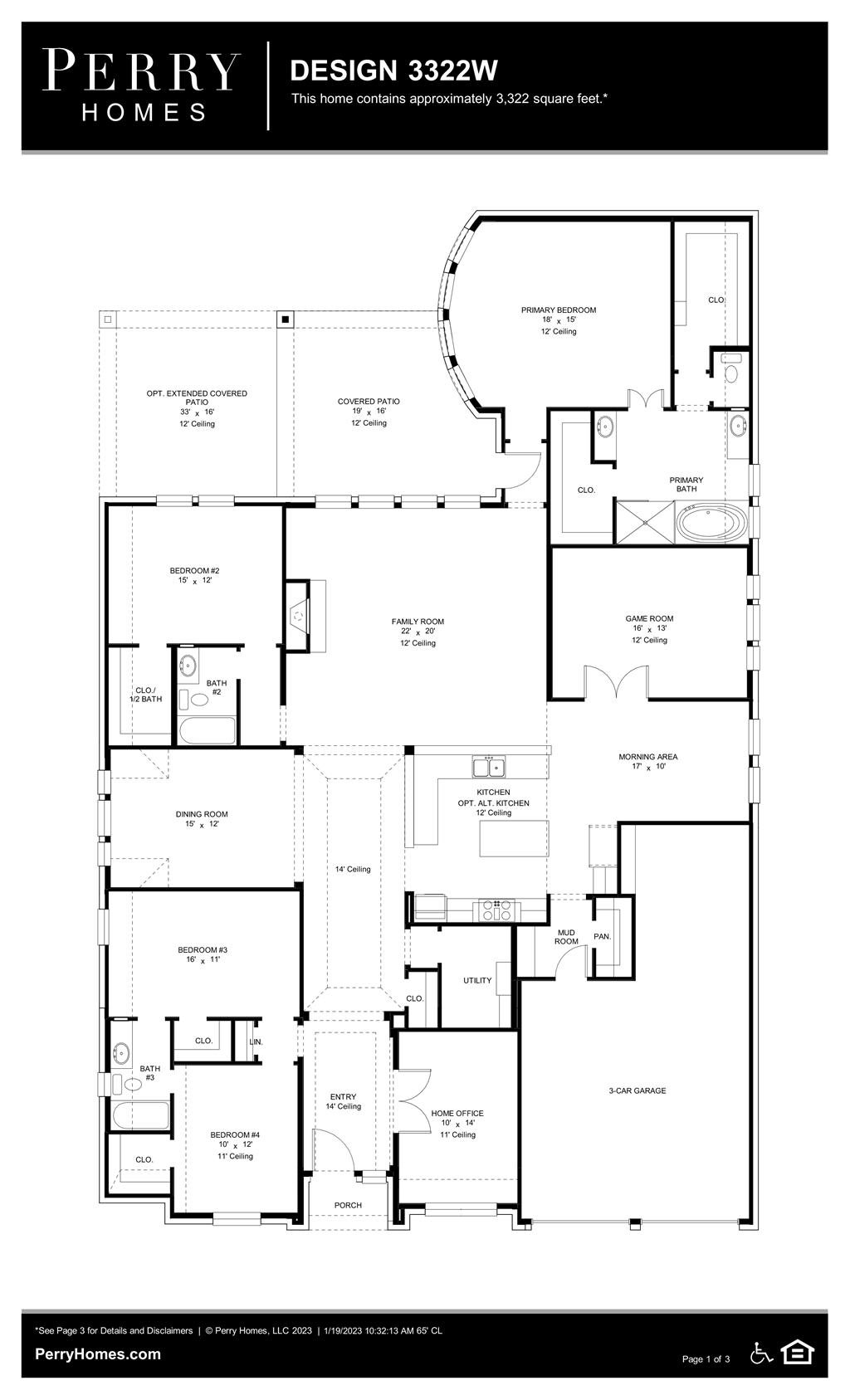 Floor Plan for 3322W