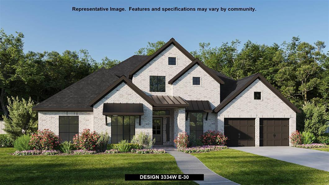 New Home Design, 3,334 sq. ft., 4 bed / 3.5 bath, 3-car garage