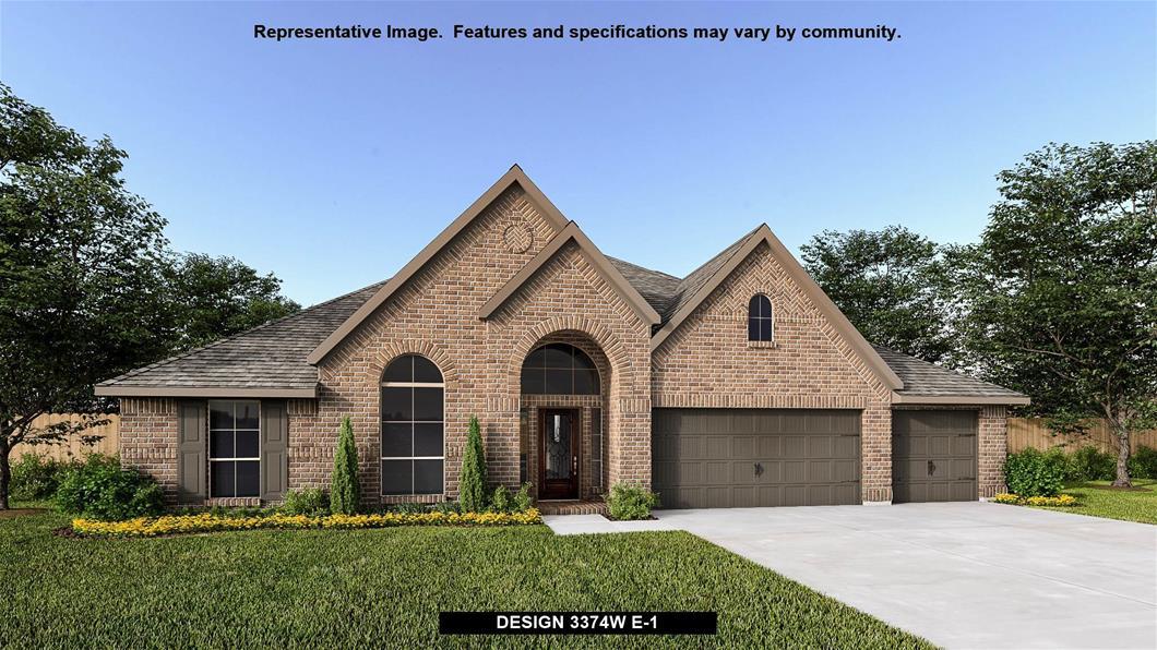 New Home Design, 3,374 sq. ft., 4 bed / 3.0 bath, 3-car garage