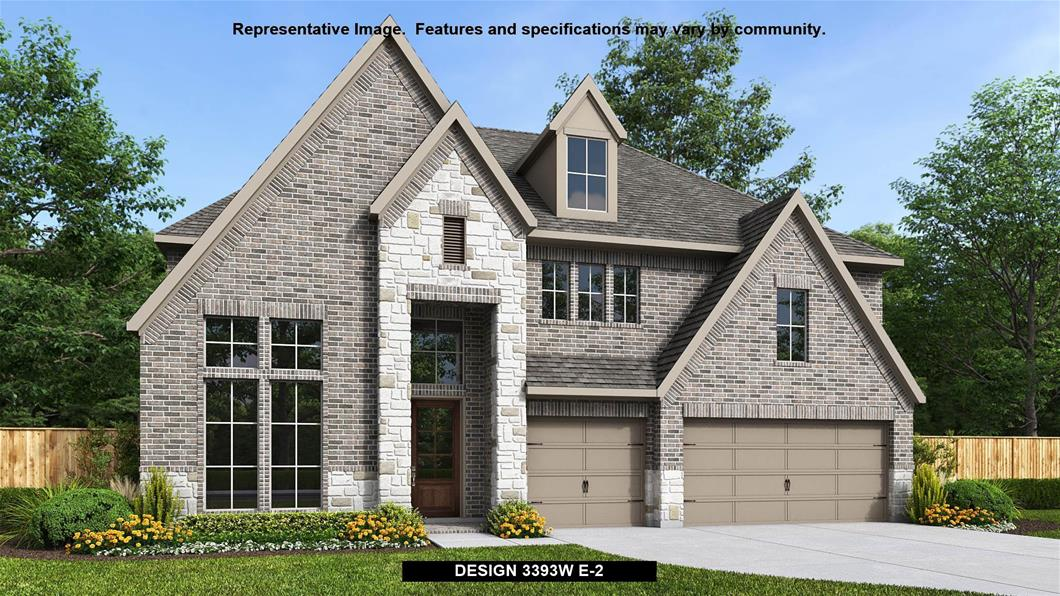 New Home Design, 3,393 sq. ft., 4 bed / 3.5 bath, 3-car garage