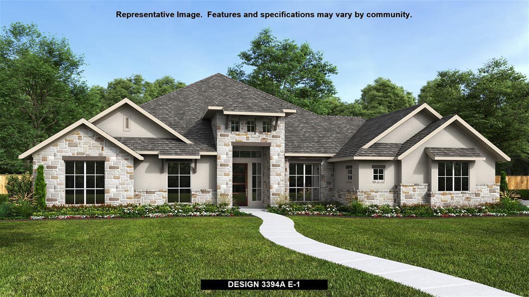 New Home Design, 3,394 sq. ft., 4 bed / 3.0 bath, 3-car garage