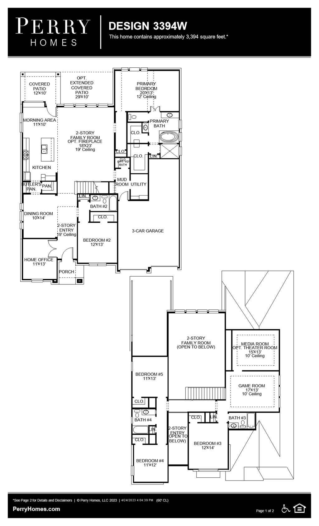 Floor Plan for 3394W