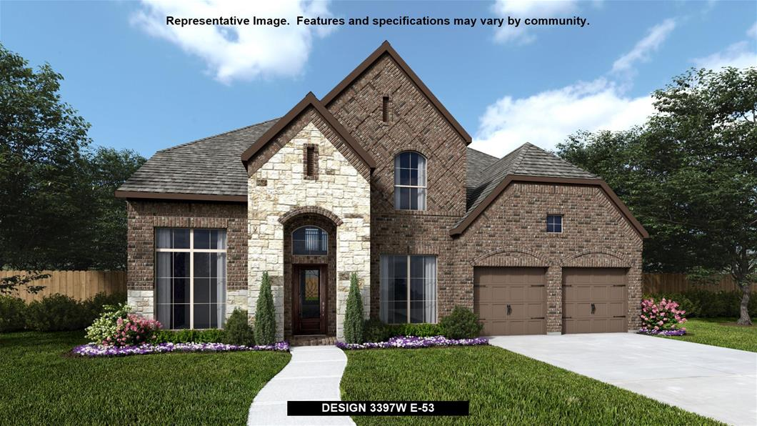 New Home Design, 3,397 sq. ft., 5 bed / 4.5 bath, 3-car garage
