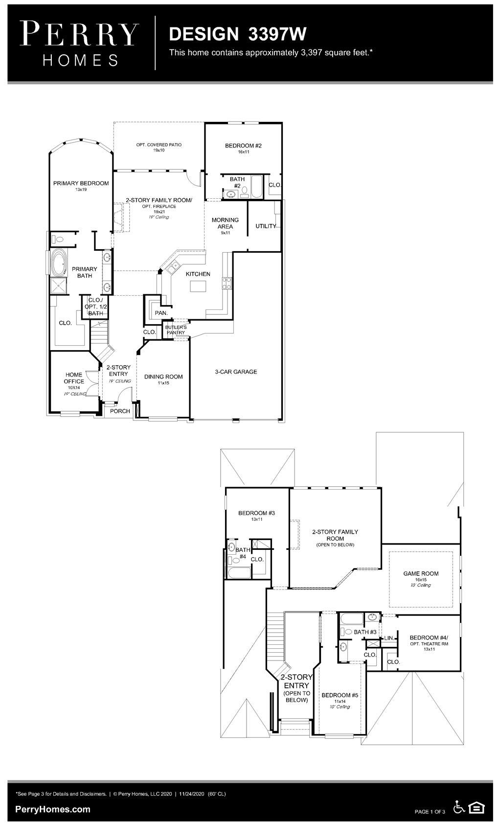 Floor Plan for 3397W