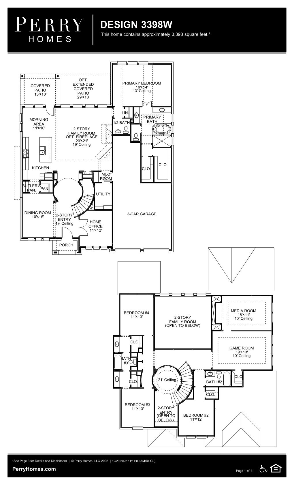 Floor Plan for 3398W
