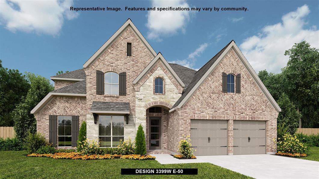 New Home Design, 3,399 sq. ft., 4 bed / 3.5 bath, 3-car garage