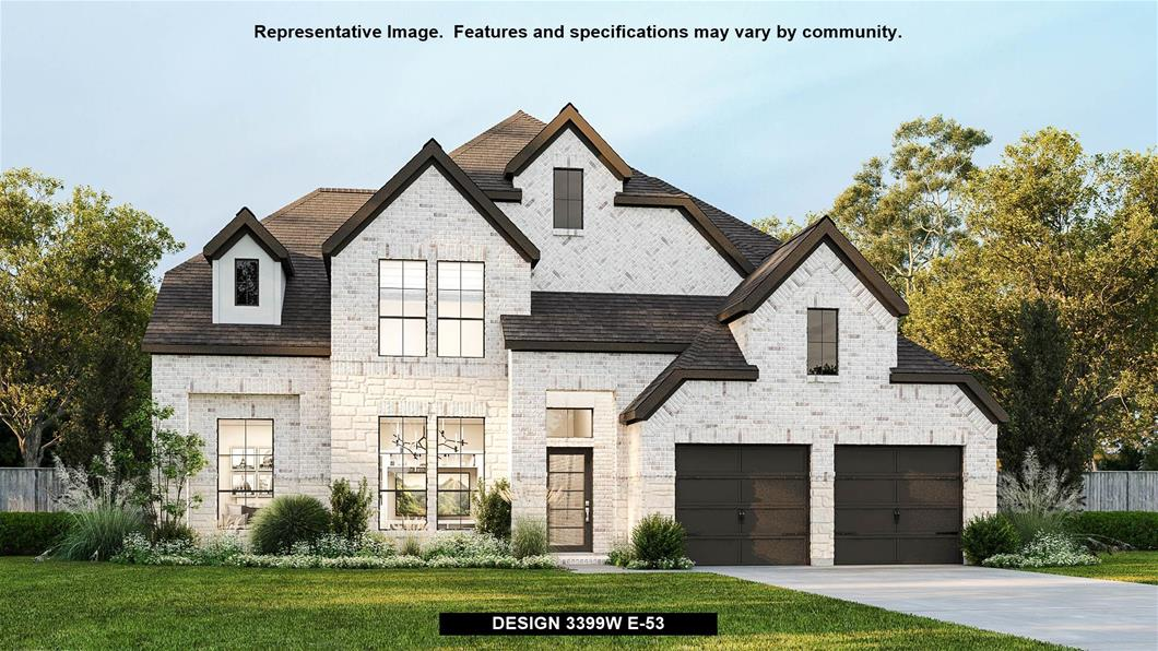 New Home Design, 3,399 sq. ft., 4 bed / 3.5 bath, 3-car garage