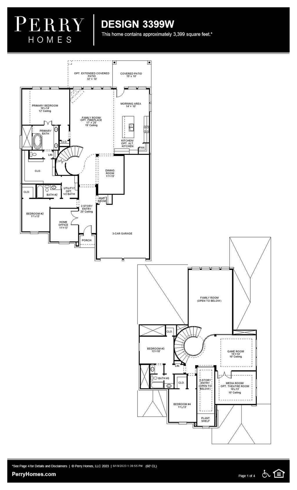 Floor Plan for 3399W