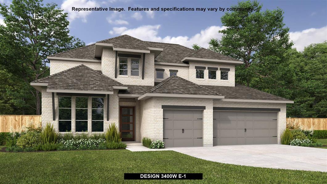 New Home Design, 3,400 sq. ft., 4 bed / 4.5 bath, 3-car garage