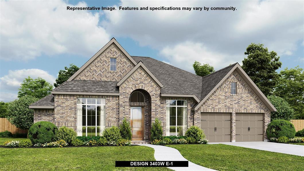 New Home Design, 3,403 sq. ft., 4 bed / 3.5 bath, 3-car garage