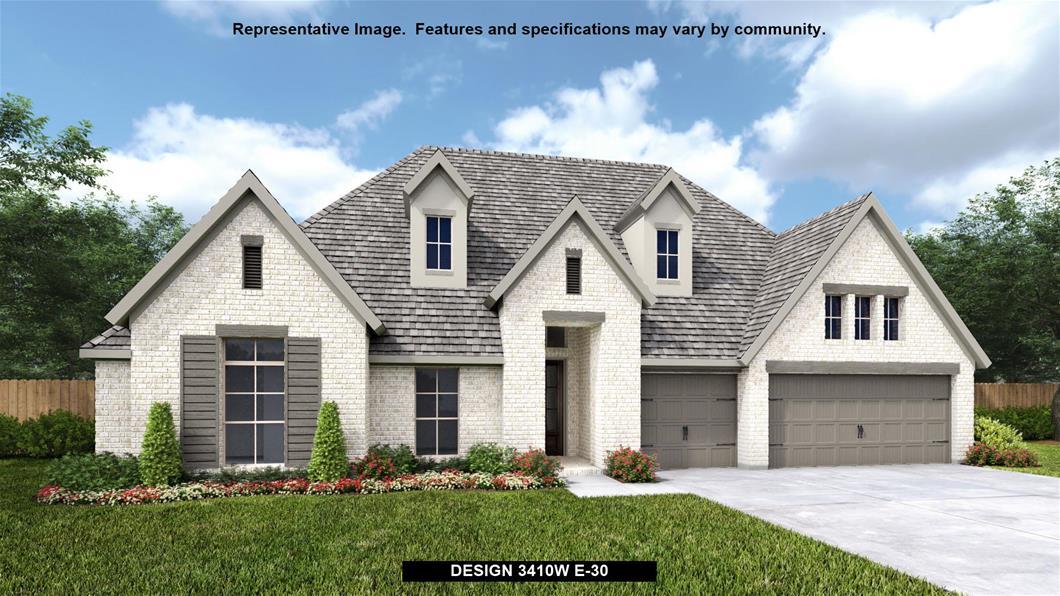 New Home Design, 3,410 sq. ft., 4 bed / 3.5 bath, 3-car garage
