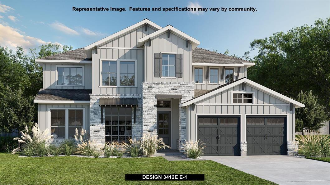New Home Design, 3,412 sq. ft., 4 bed / 3.0 bath, 3-car garage