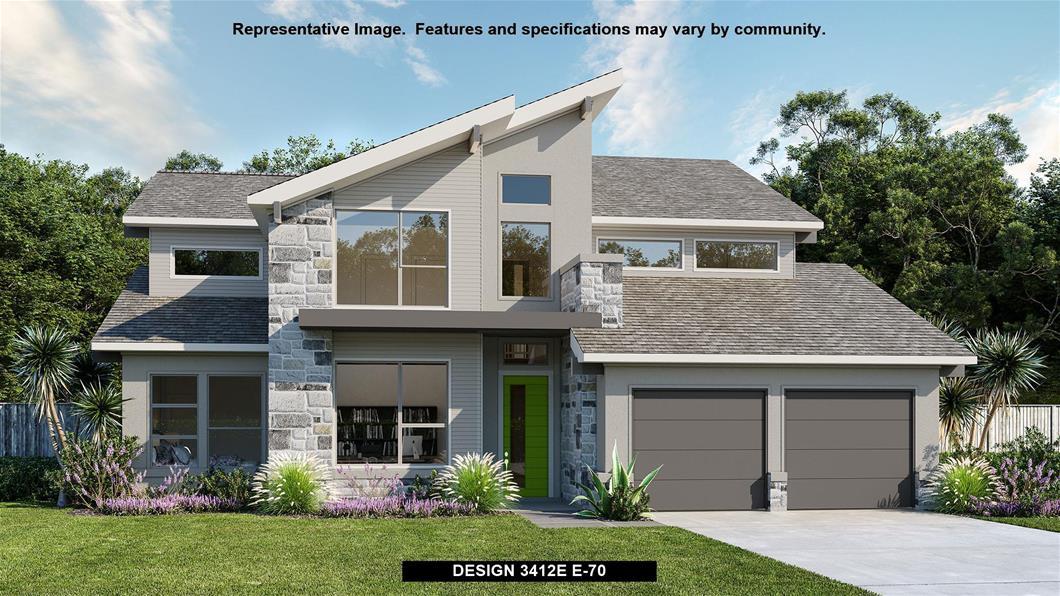 New Home Design, 3,412 sq. ft., 4 bed / 3.5 bath, 3-car garage