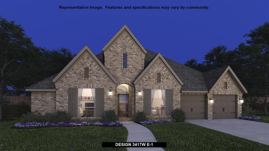 New Home Design, 3,417 sq. ft., 4 bed / 3.0 bath, 3-car garage