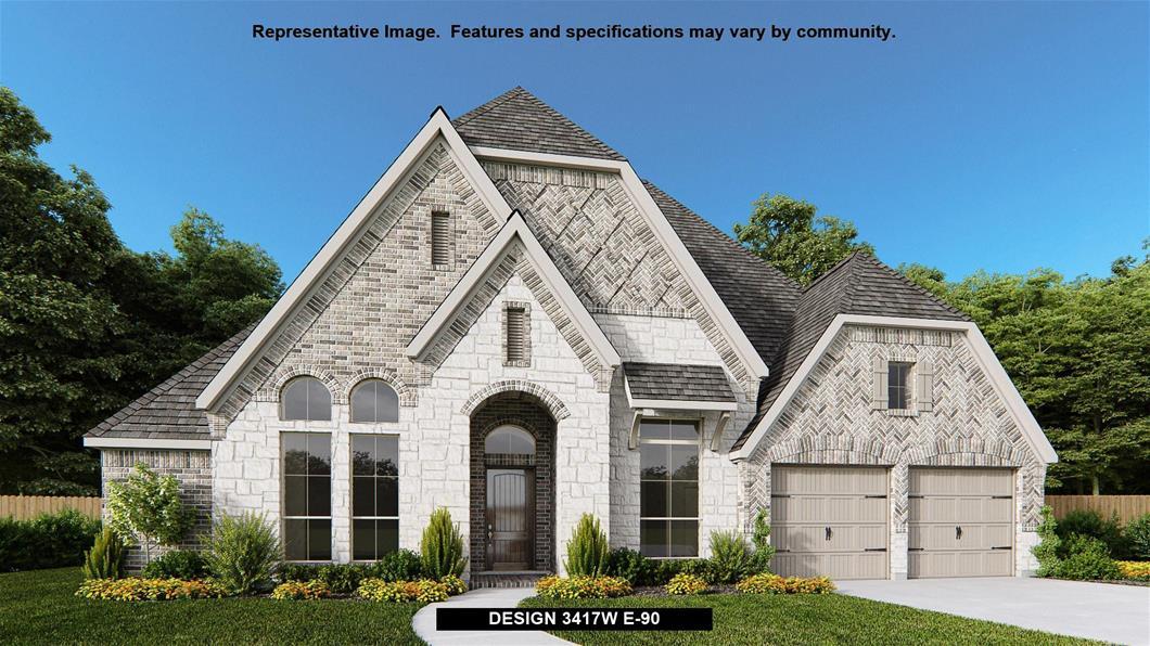 New Home Design, 3,417 sq. ft., 4 bed / 3.5 bath, 3-car garage
