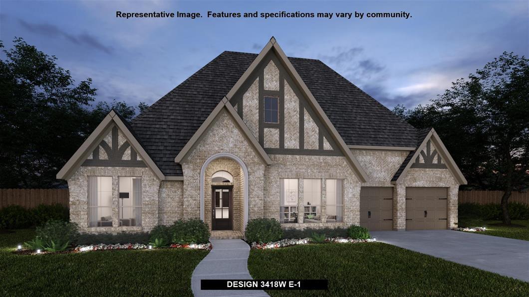 New Home Design, 3,418 sq. ft., 4 bed / 3.5 bath, 3-car garage