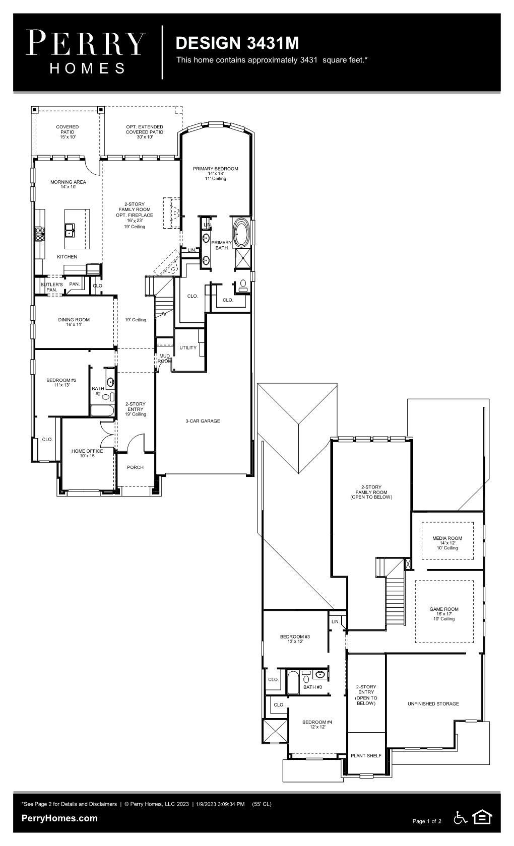 Floor Plan for 3431M