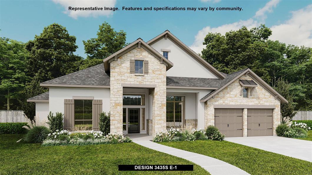 New Home Design, 3,435 sq. ft., 4 bed / 3.5 bath, 3-car garage
