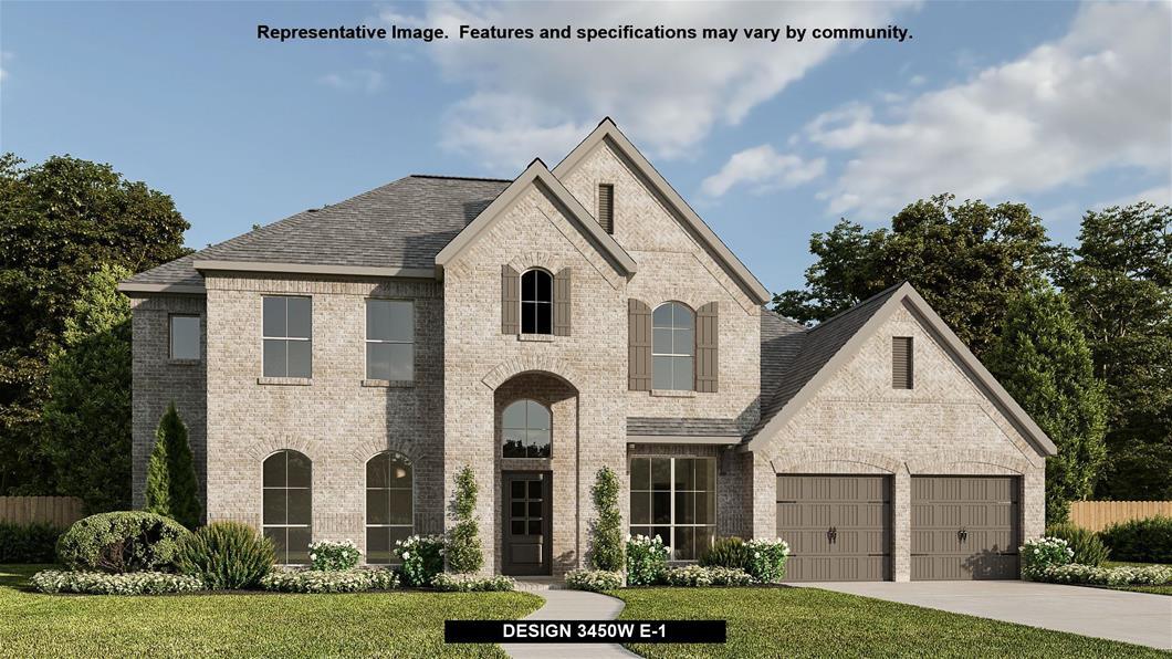 New Home Design, 3,450 sq. ft., 5 bed / 4.0 bath, 3-car garage