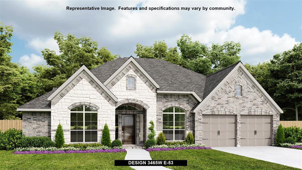 New Home Design, 3,465 sq. ft., 4 bed / 3.5 bath, 3-car garage