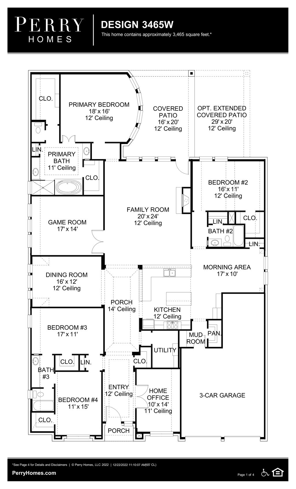 Floor Plan for 3465W