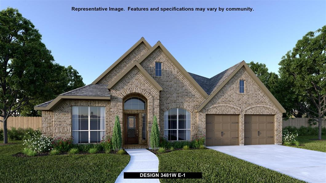 New Home Design, 3,481 sq. ft., 4 bed / 3.0 bath, 3-car garage