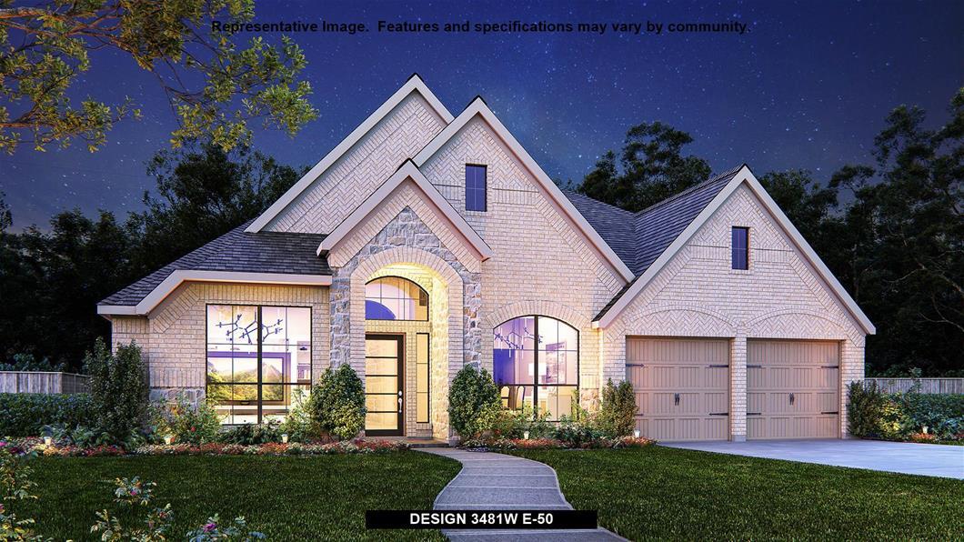New Home Design, 3,481 sq. ft., 4 bed / 3.5 bath, 3-car garage