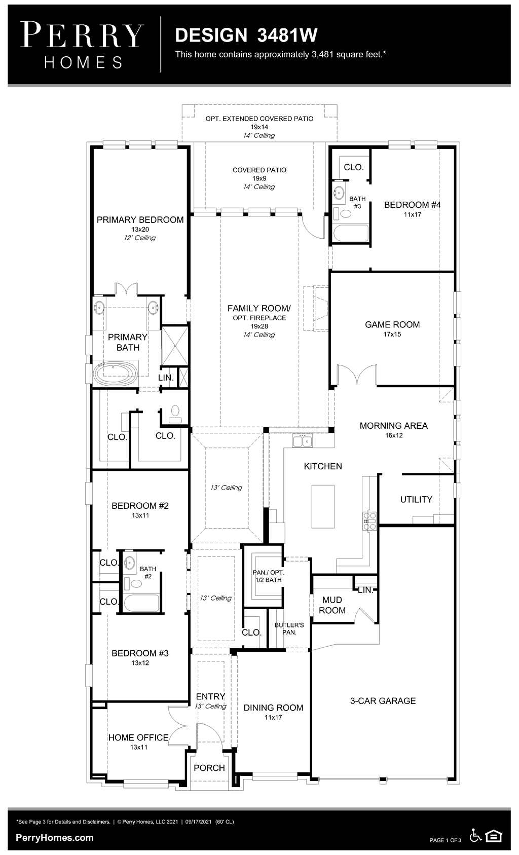 Floor Plan for 3481W