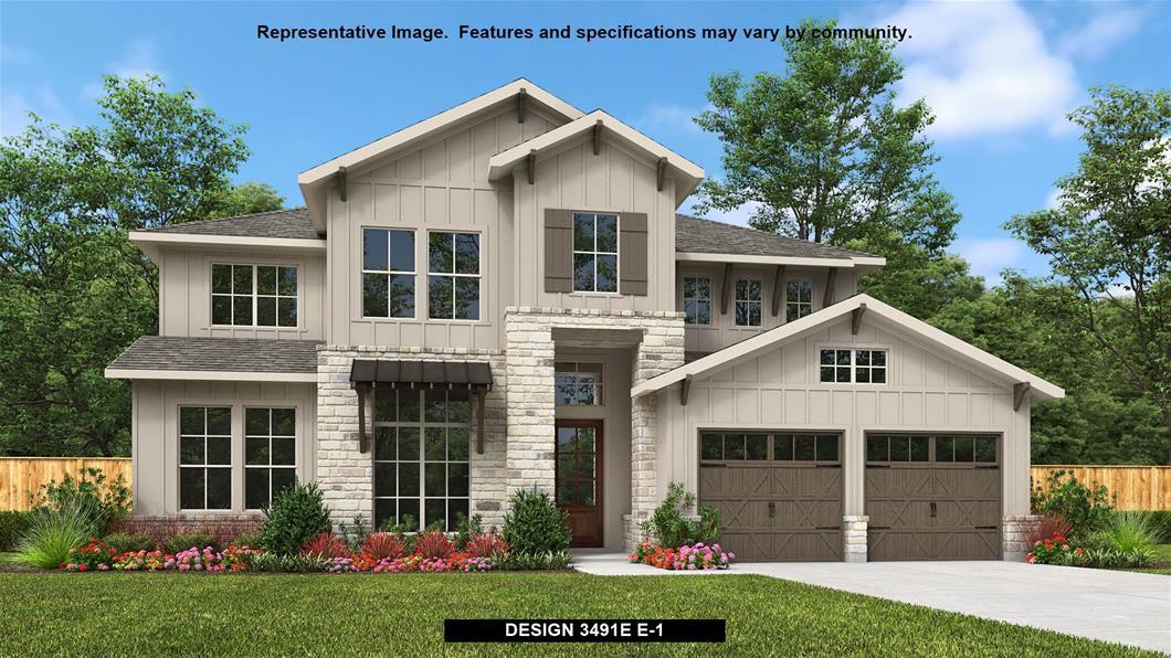 New Home Design, 3,491 sq. ft., 4 bed / 3.0 bath, 3-car garage
