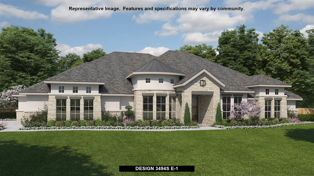 New Home Design, 3,494 sq. ft., 4 bed / 3.0 bath, 3-car garage