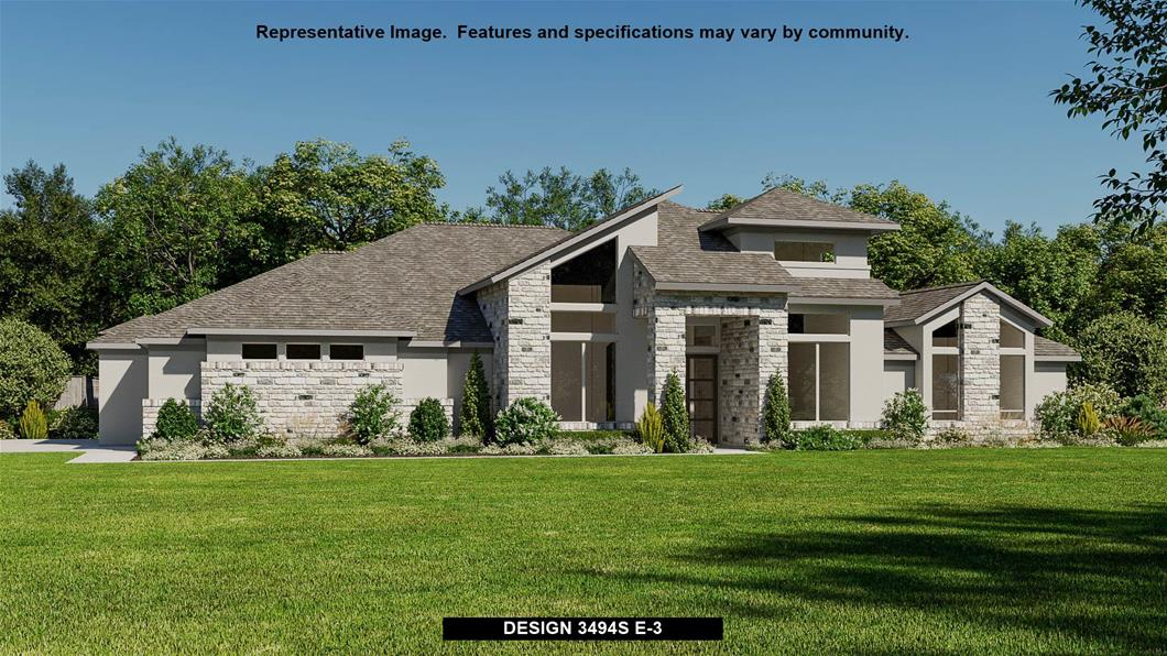 New Home Design, 3,494 sq. ft., 4 bed / 3.5 bath, 3-car garage