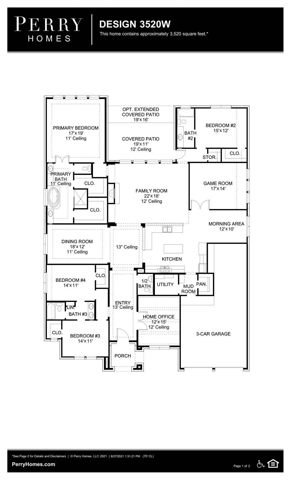 Floor Plan for 3520W