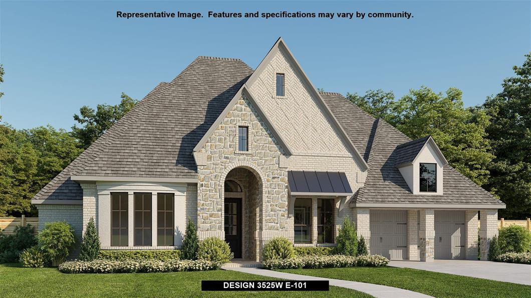 New Home Design, 3,525 sq. ft., 4 bed / 4.5 bath, 3-car garage