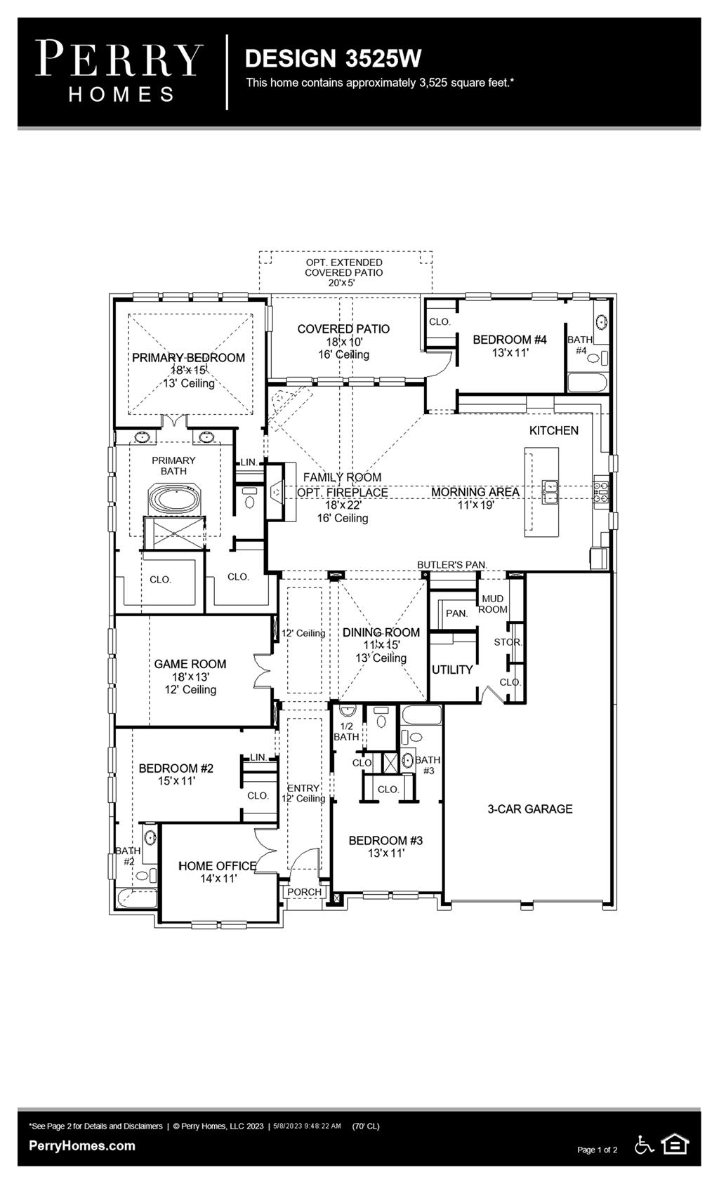 Floor Plan for 3525W