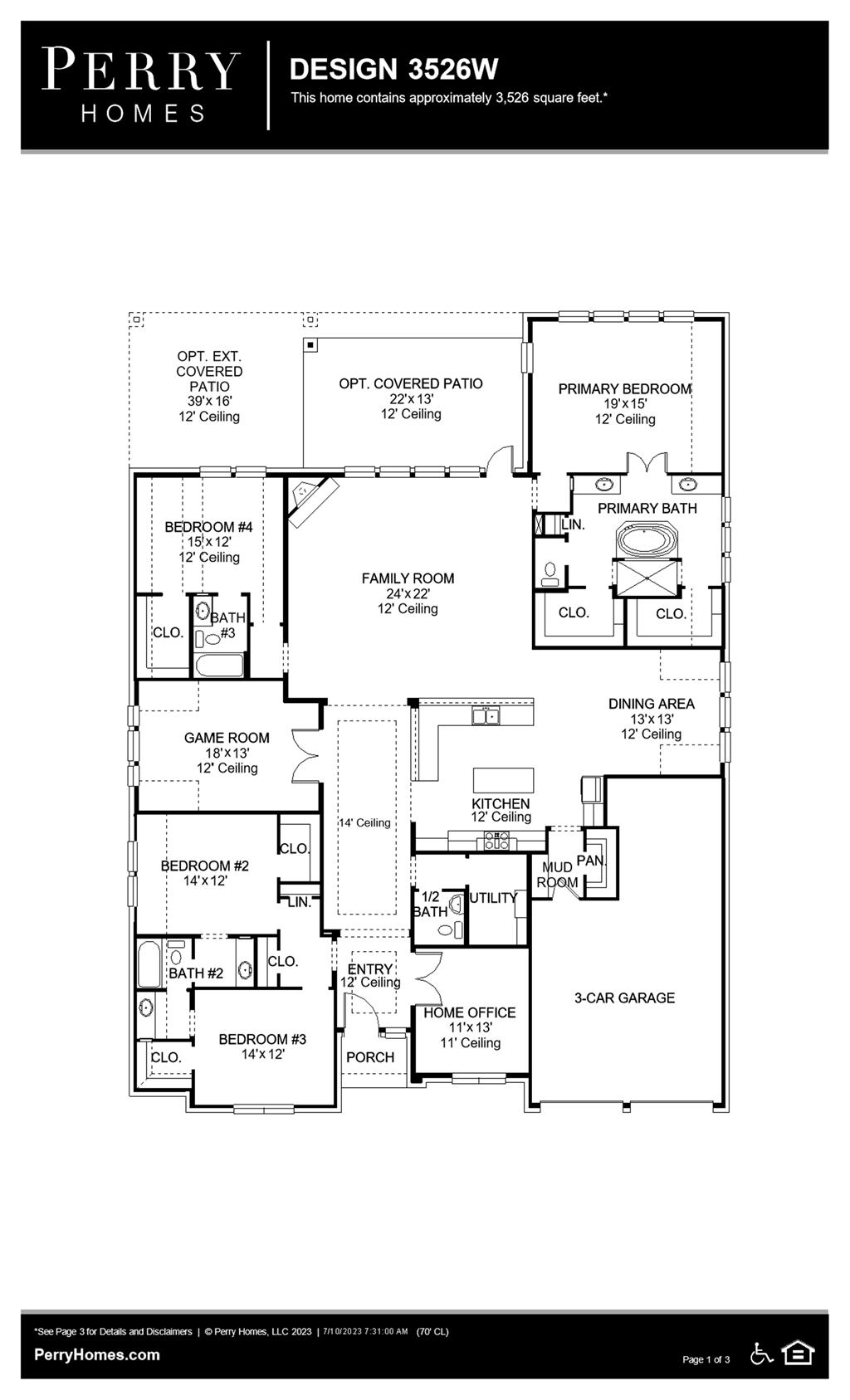 Floor Plan for 3526W