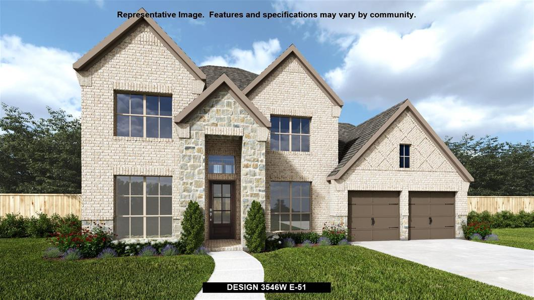 New Home Design, 3,546 sq. ft., 5 bed / 4.5 bath, 3-car garage