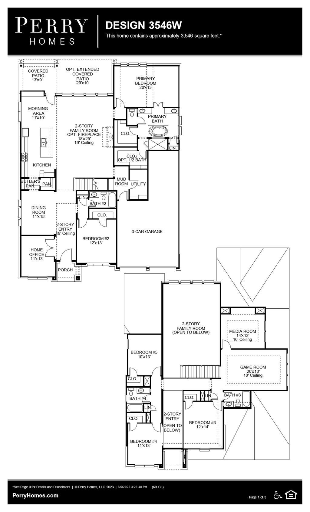 Floor Plan for 3546W