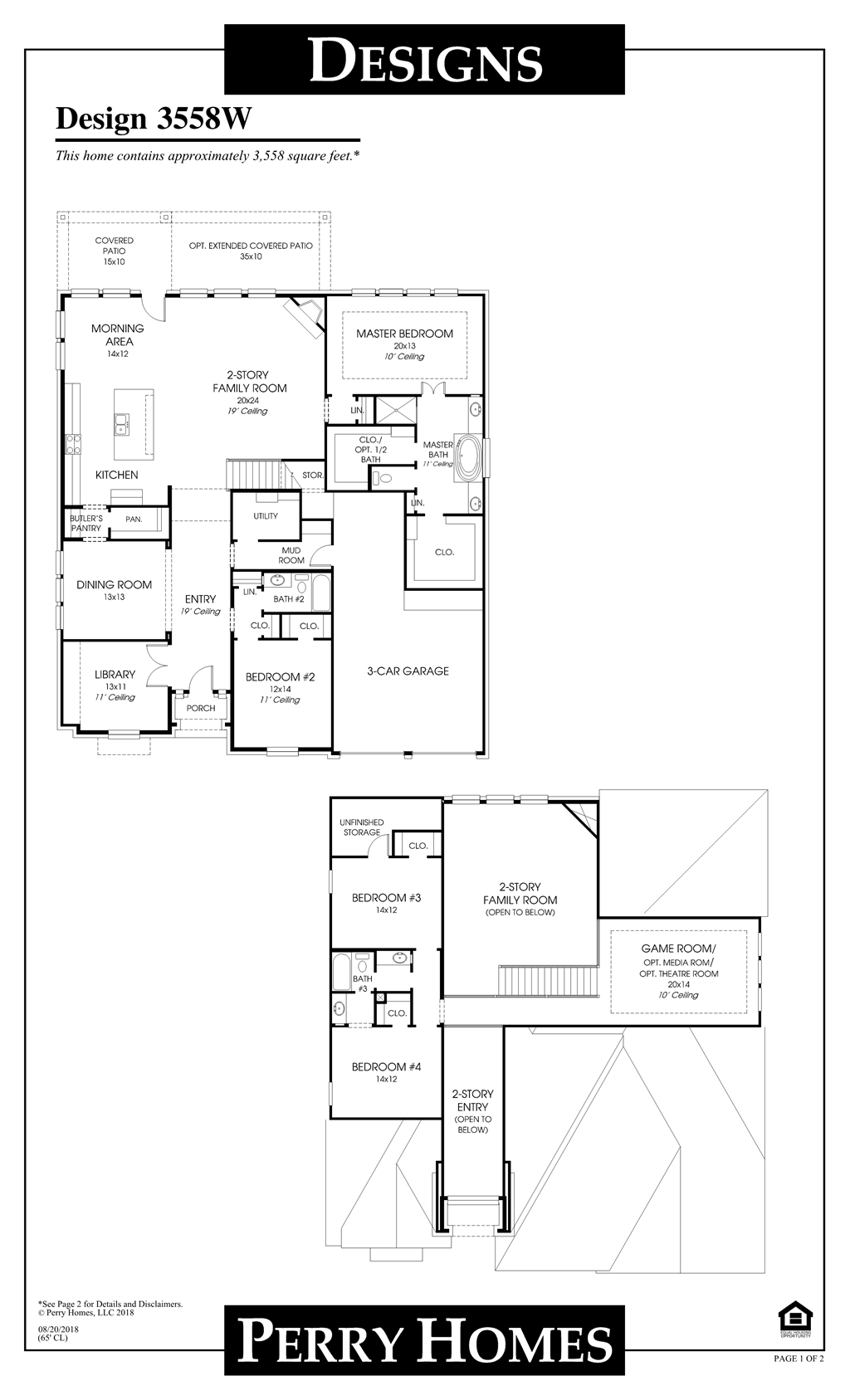 Floor Plan for 3558W