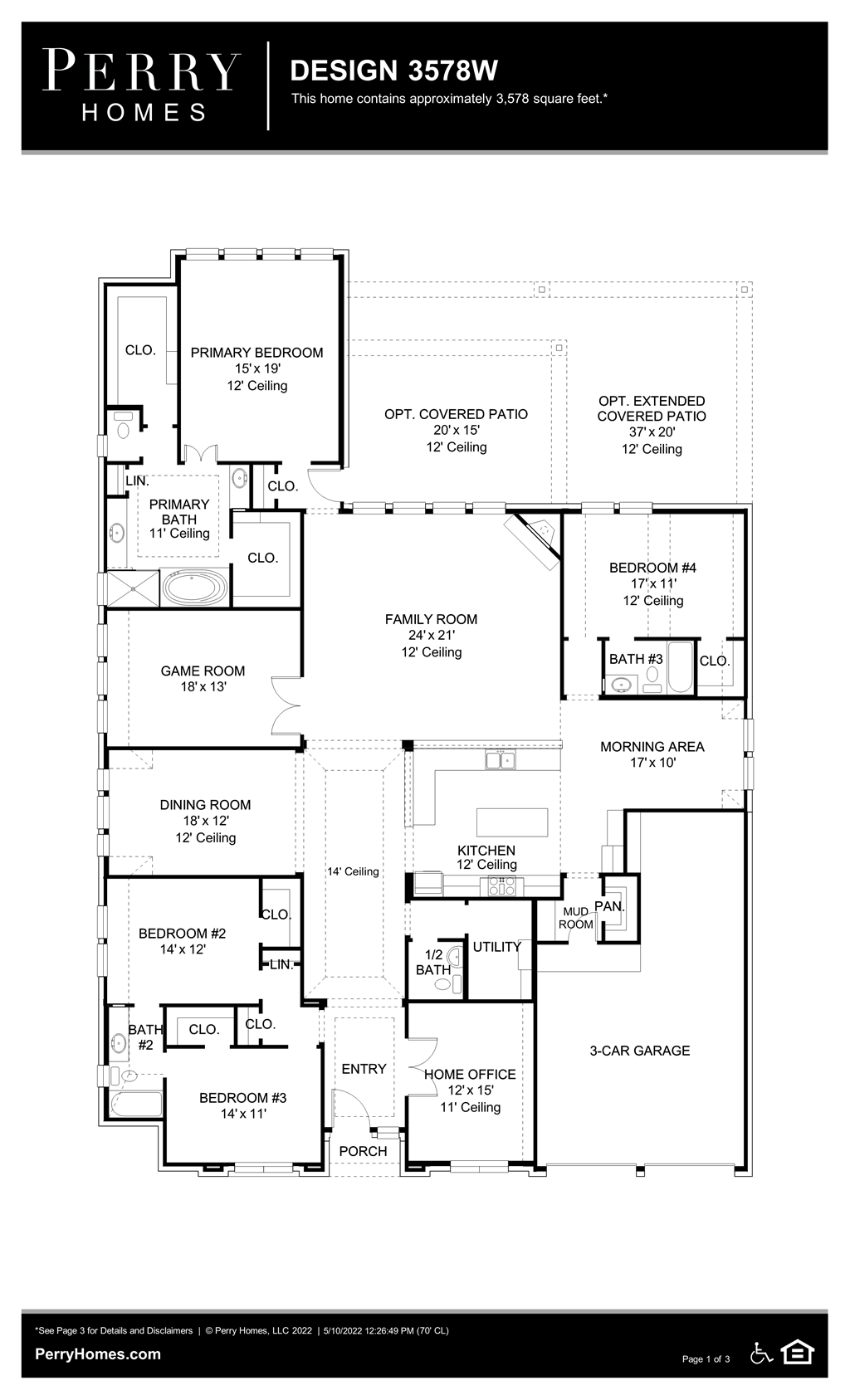 Floor Plan for 3578W